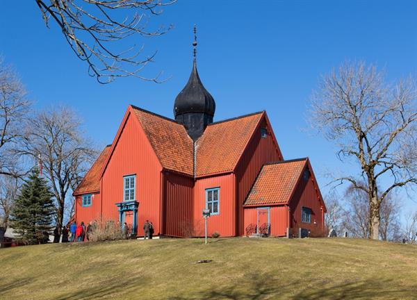 """Rein kirke - også kalt """"Bojerkjerka"""""""
