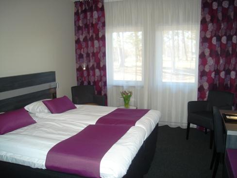 Nybyggt rum i lila på Tylebäck utanför Halmstad.
