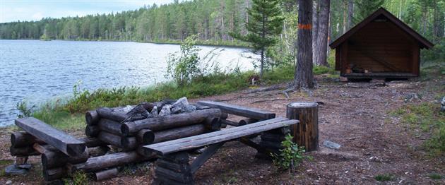 Eldstad och vindskydd, Guide Natura