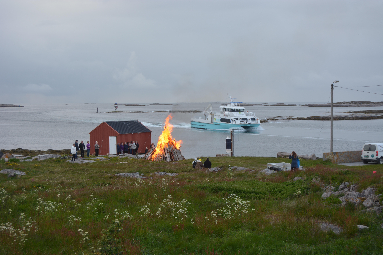 Fyrvokterboligen har utsikt mot havet. Copyright: Tove Cecilie Fasting