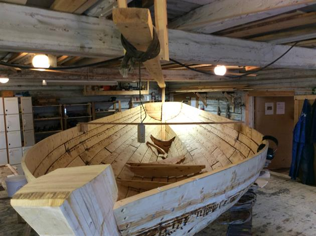 Fälbåt under byggnation