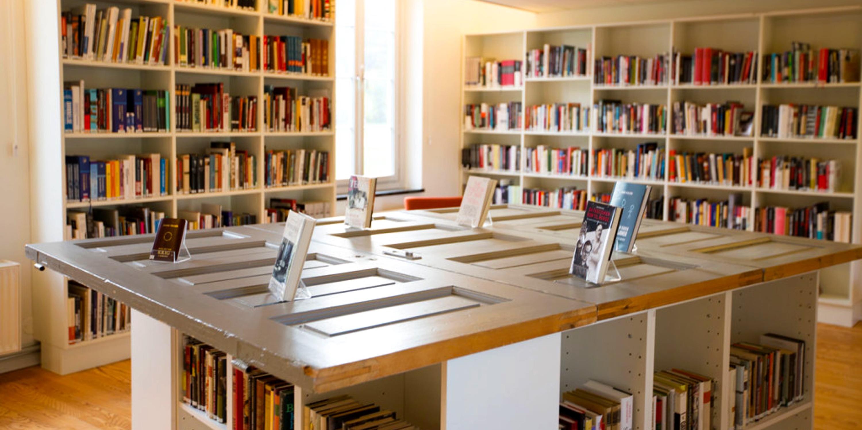 Biblioteket på Falstadsentret