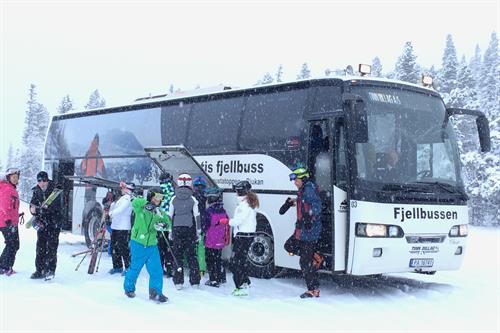 Free ski bus, © Karin Rø