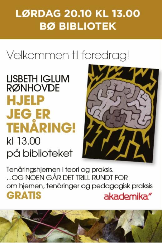 Hjelp jeg er tenåring! -Foredrag med Lisbeth Iglum Rønhovde
