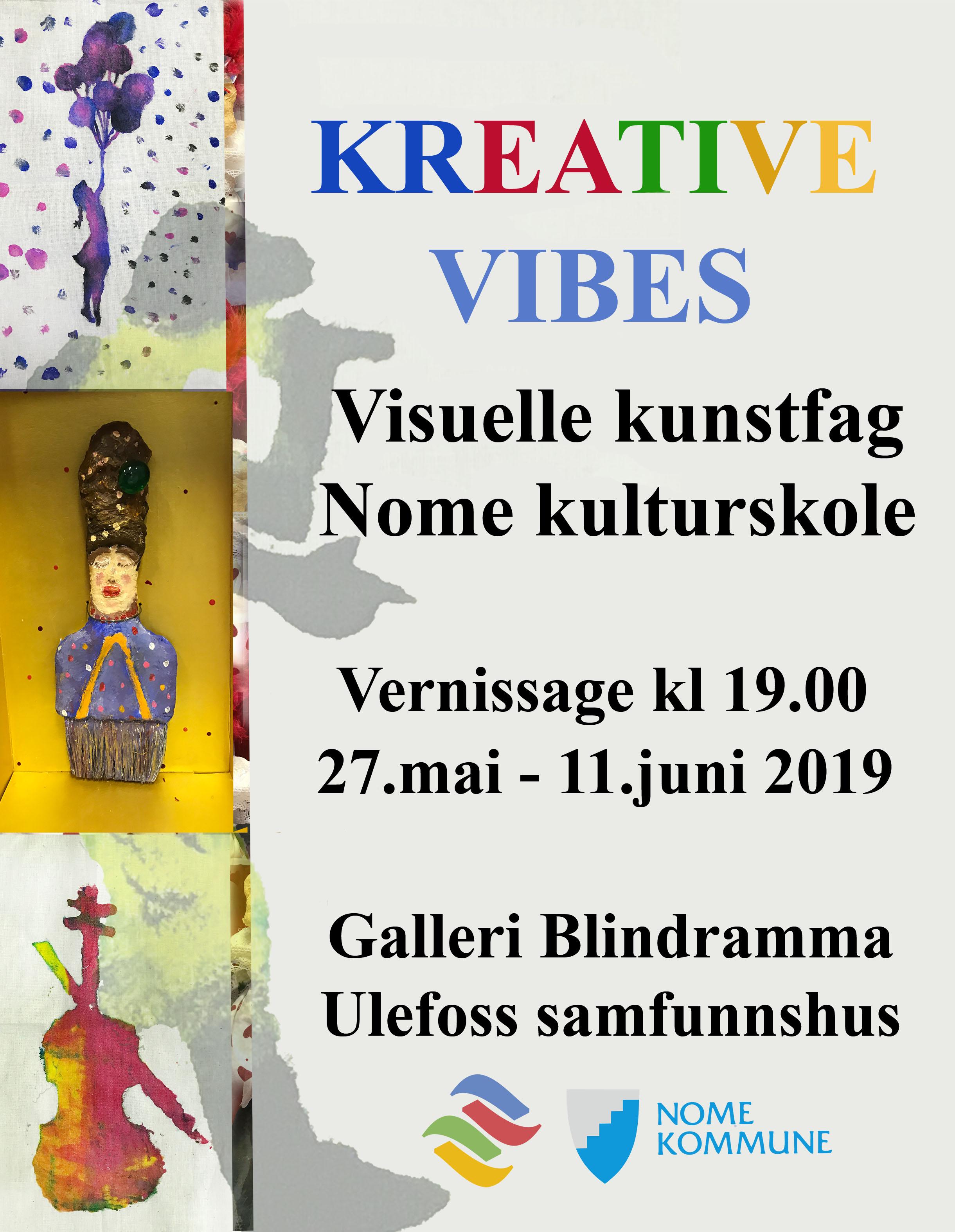 Galleri Bindramma: Åpning av elevutstillingen Kreative Vibes
