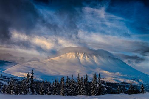 Gaustatoppen er flott når den er vinterkledd, © Ian Brodie