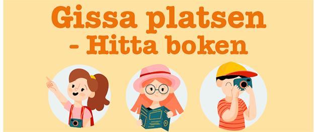 Illustration Gissa platsen - Hitta boken, Sjulnäs bibliotek