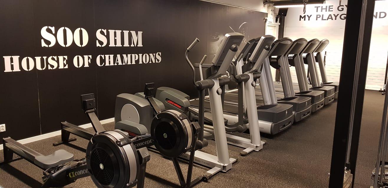 Bild från cyklarna på gymmet Soo shim high performance