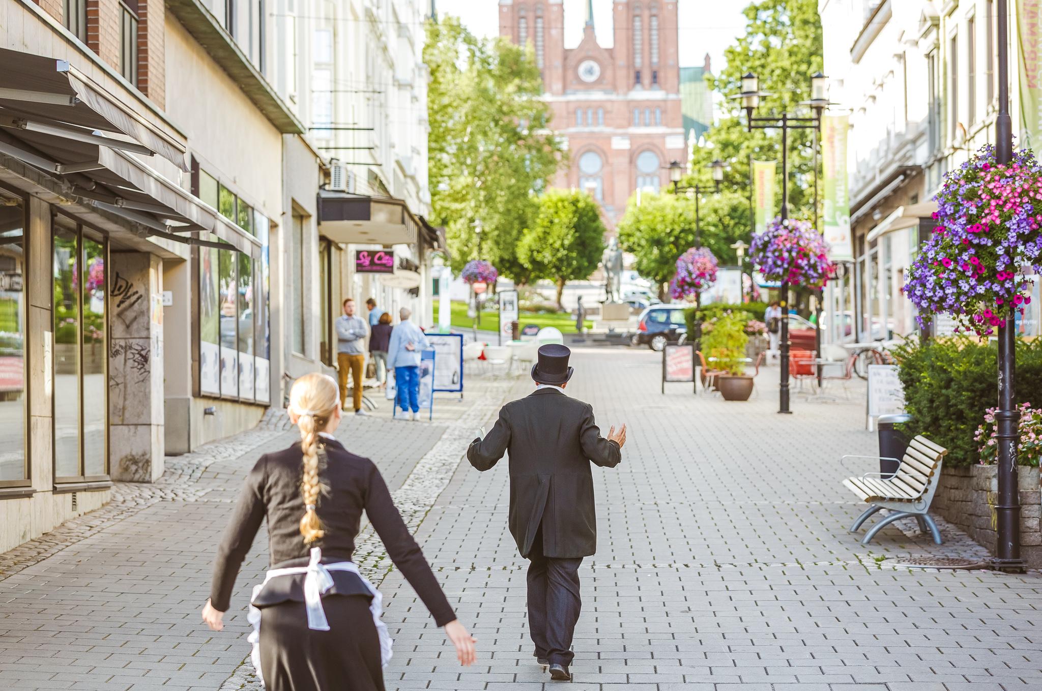 Ibsenvandring for barn i Skien sentrum