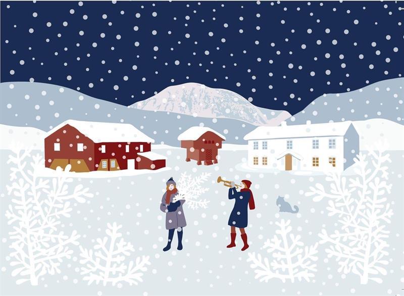 Julekort av Søndre Vik Bigård