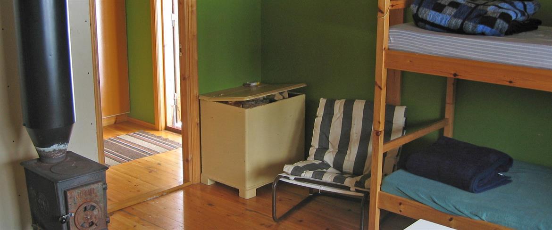 Ett av rummet på Baggen