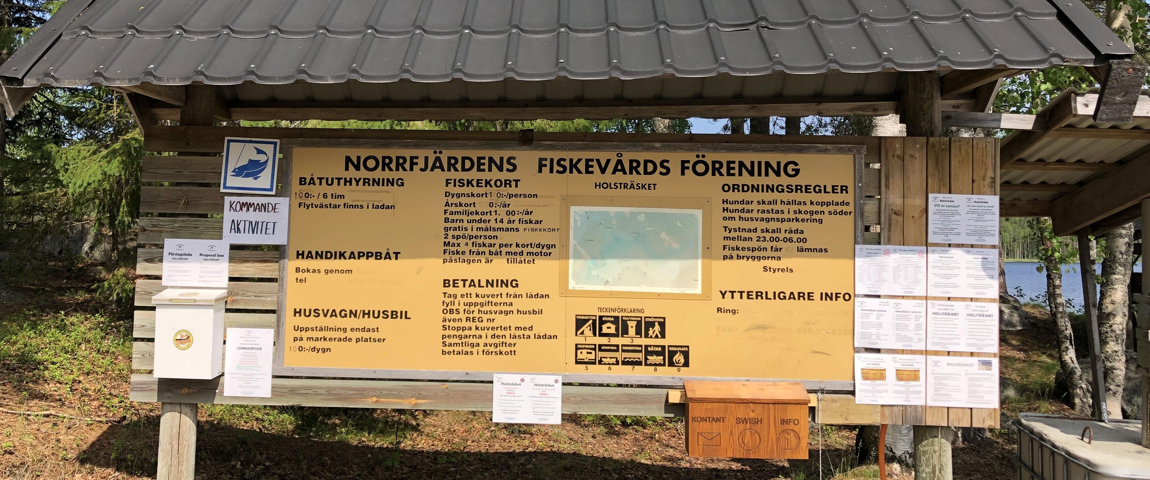 Holsträsket Fiskekort
