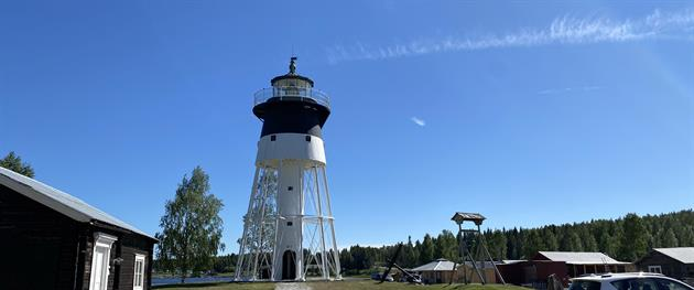 Skags Lighthouse in Jävre, Piteå Turistinformation