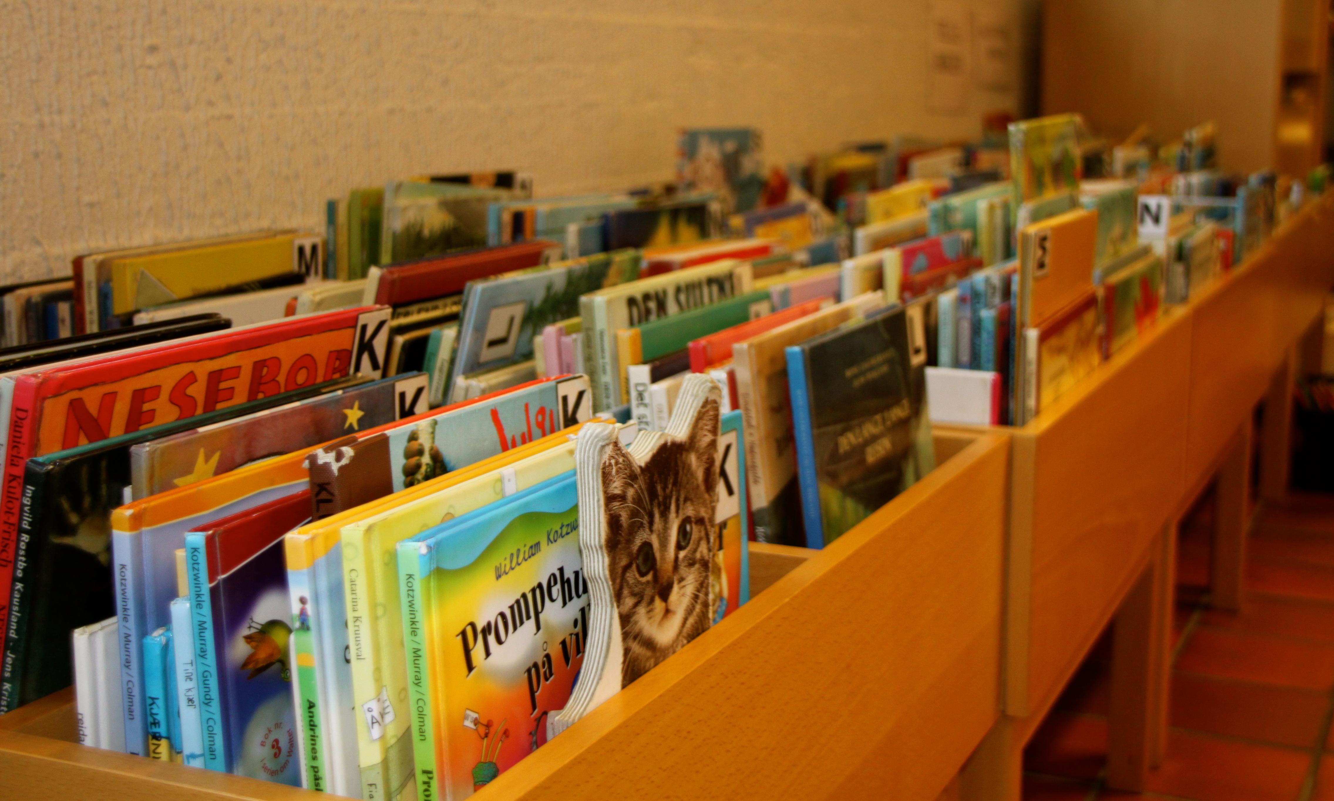 Bildebøker, © Bamble bibliotek og litteraturhus