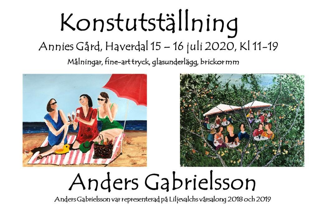 Konstutställning Annies Gård, Haverdal