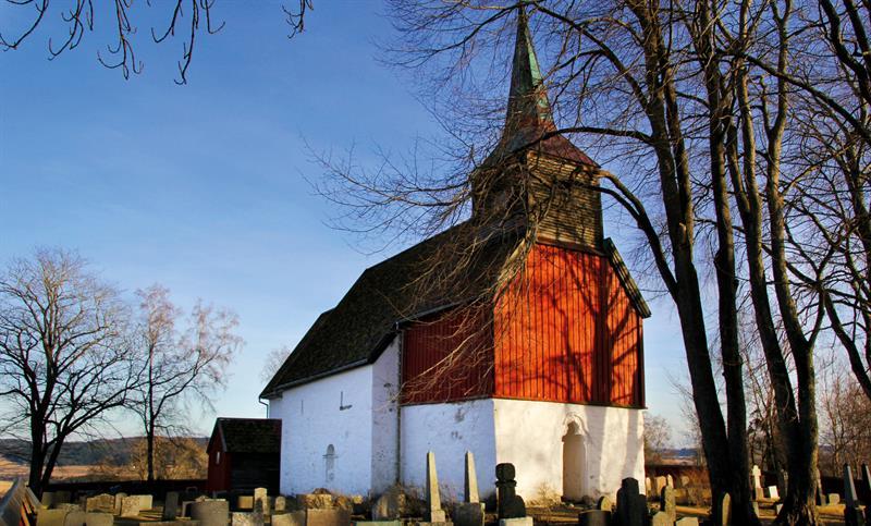 Hustad church -  a medieval church in Inderøy