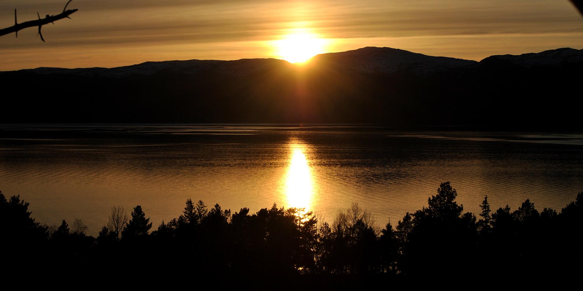 Sunset by Spettspiret cabin. Copyright: Letnes Gård