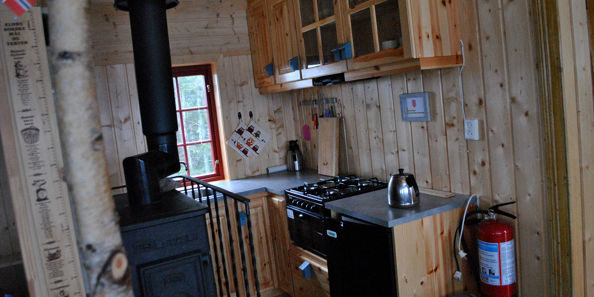 The Kitchen at Spettspiret cabin - the cabin nestled in the treetops in Inderøy. Copyright: Letnes Gård