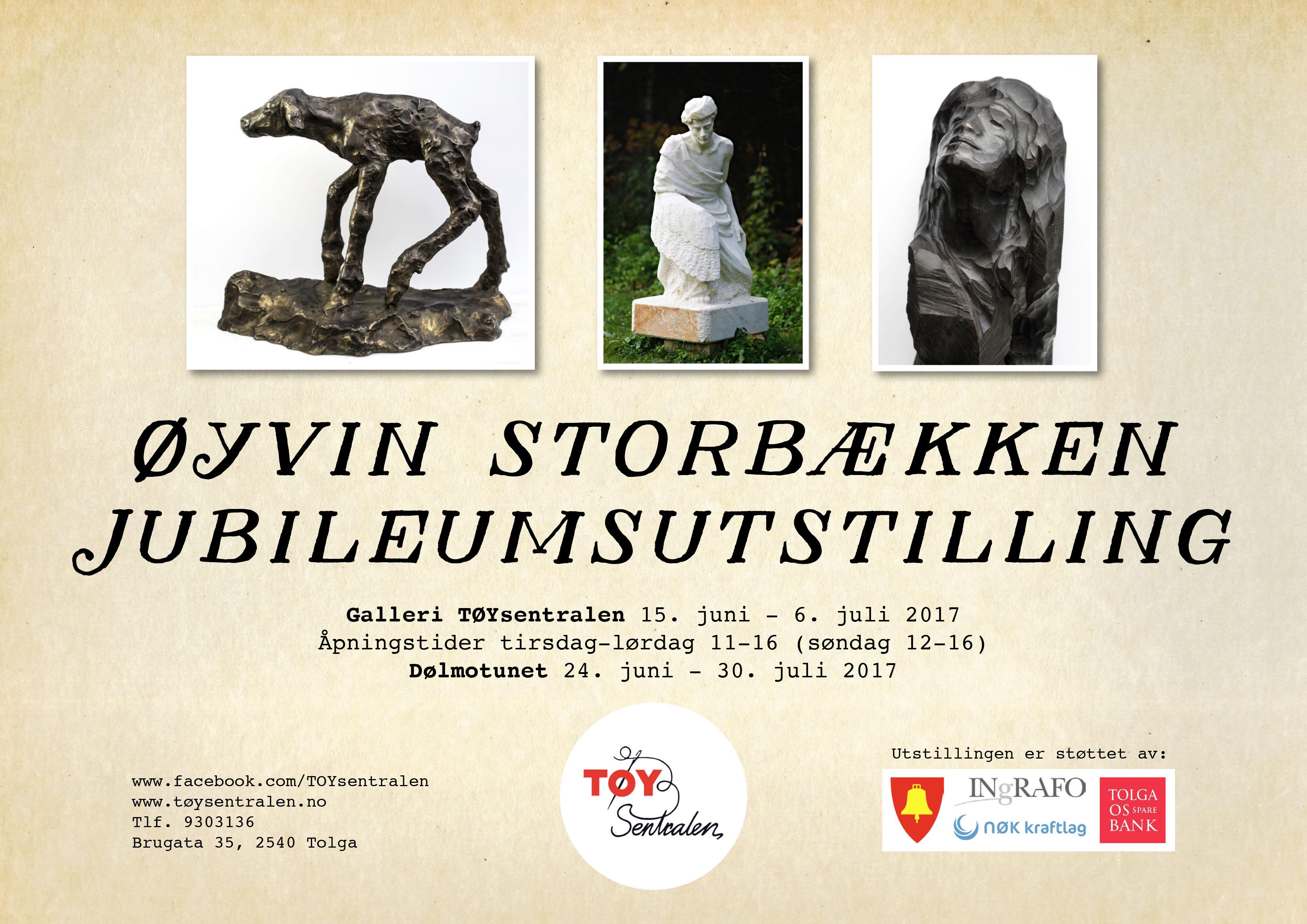 JUBILEUMSUTSTILLING- Øyvin Storbækken- skulptur