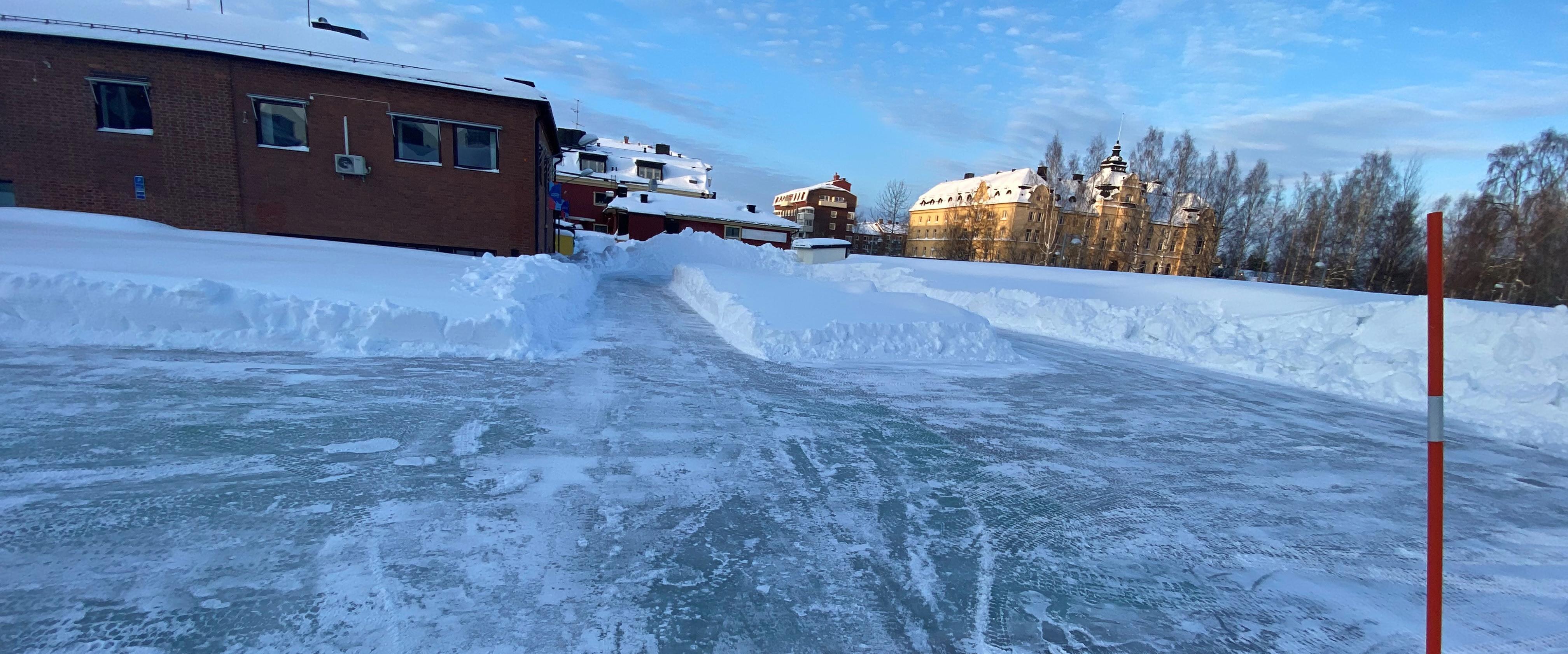Isbanan på Vinterdäcket i Piteå