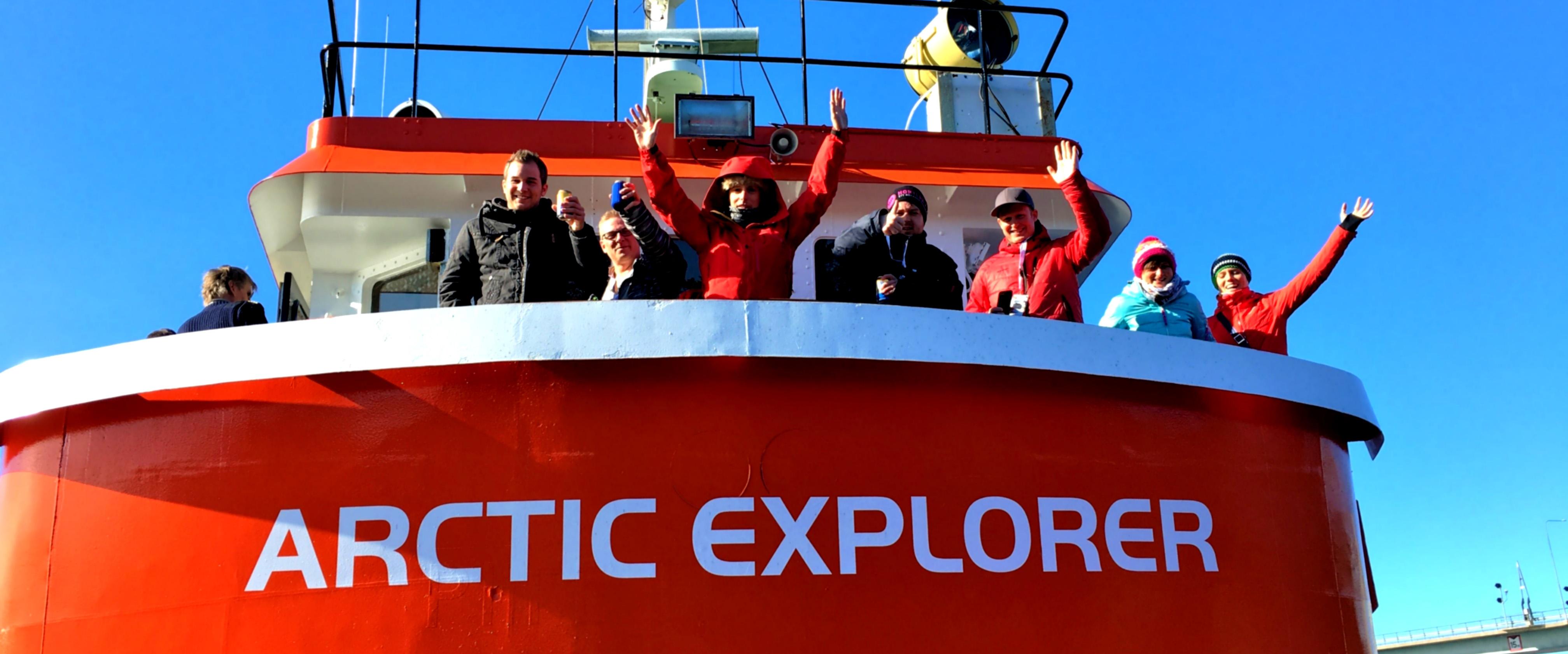 Besökare på isbrytaren