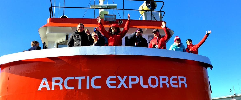 Visitors onboard