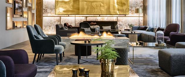 KUST lobby med sköna sittplatser och härlig atmosfär, Kust hotell och spa