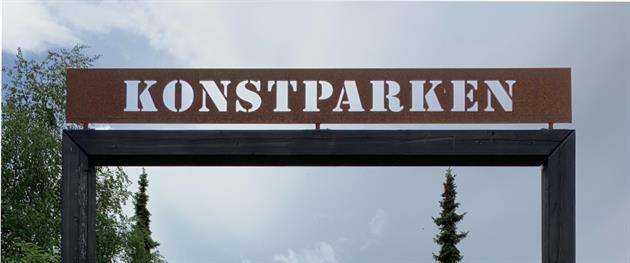 Konstparken skylt