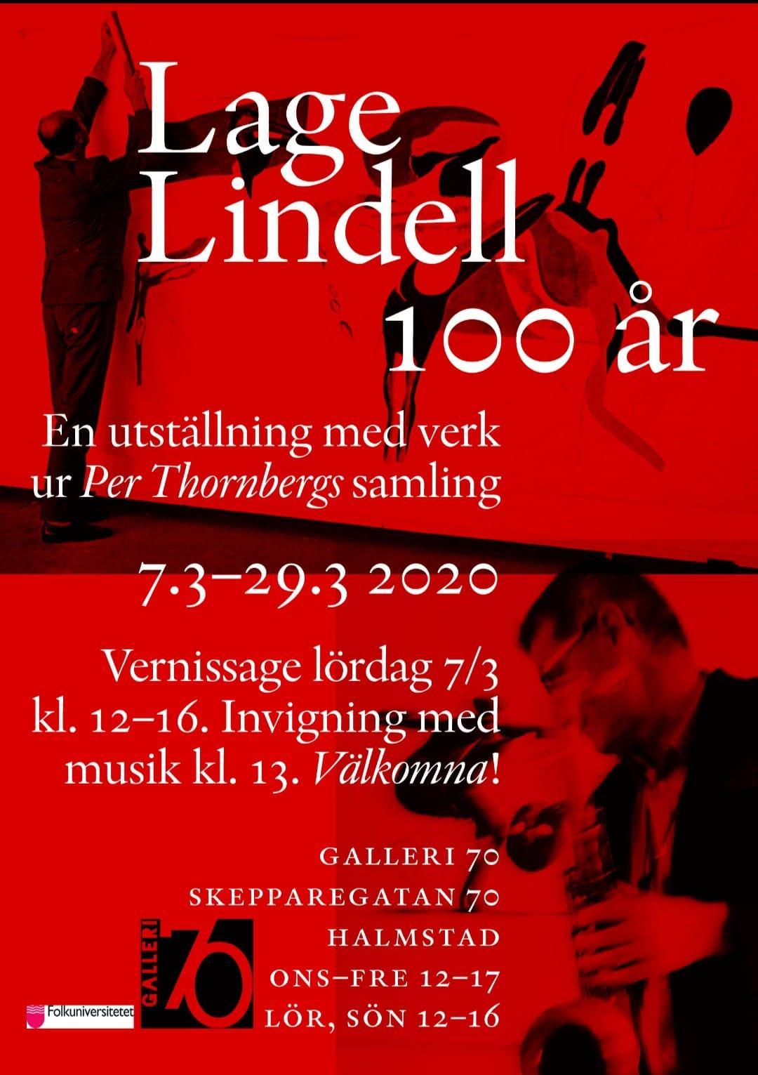 Per Thornberg visar, inproviserar och föreläser om Lage Lindell på Galleri70