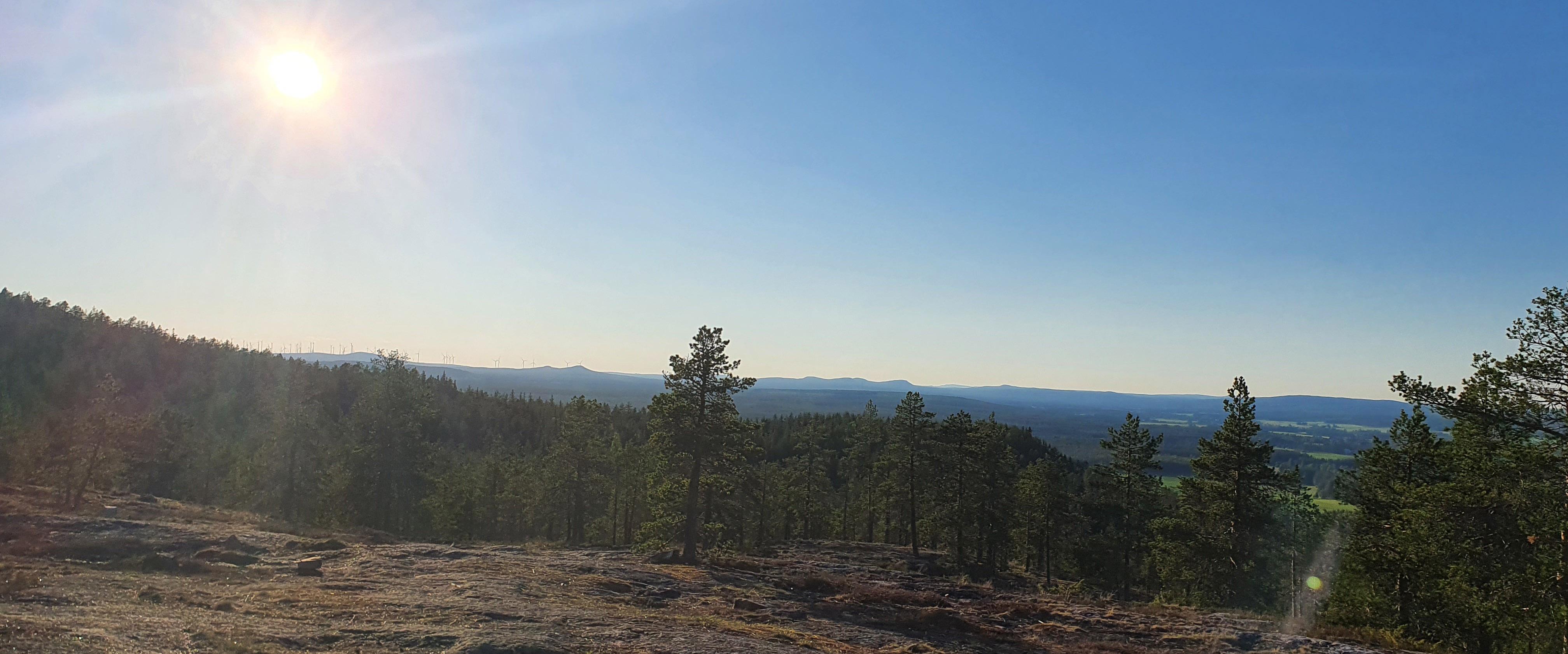 Larssonsberget utsikt vindkraft
