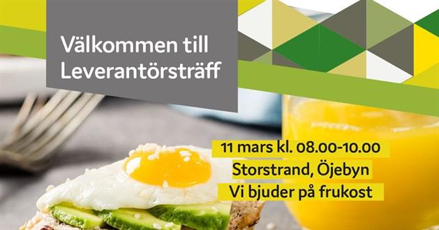 Affisch leverantörsträff 11 mars