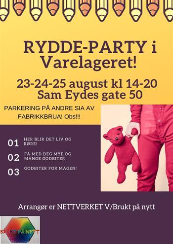Rydde - Party i Varelageret