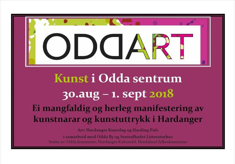 ODDART - Kunst i Odda sentrum 30.08-01.09