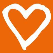 Orange hjärta