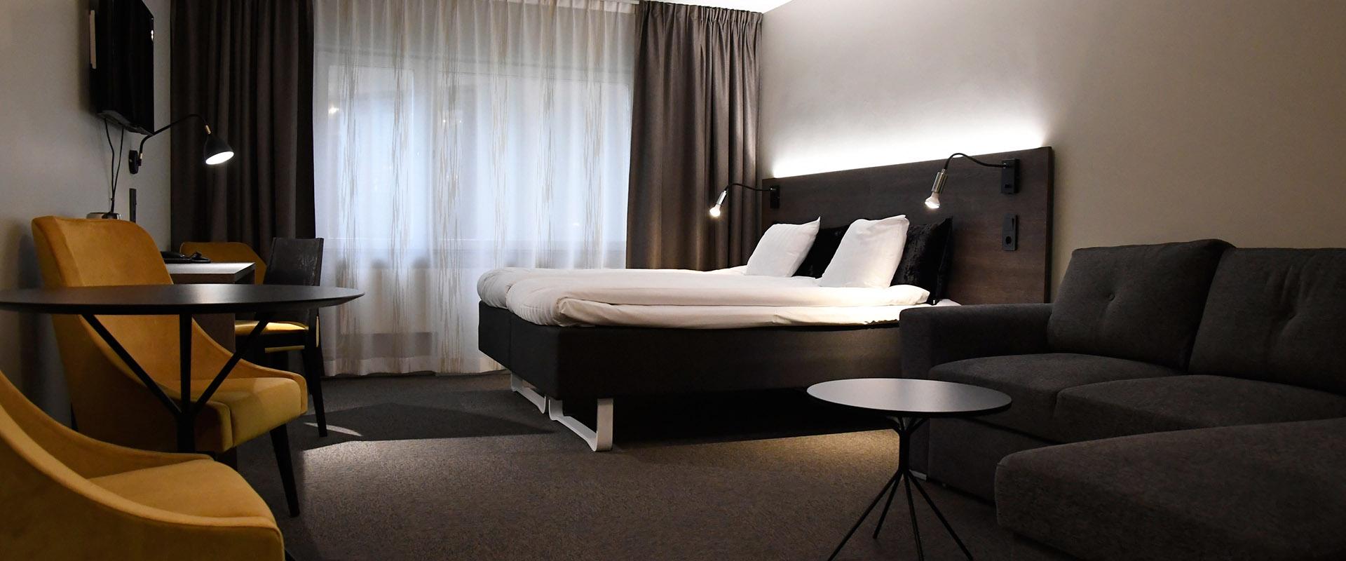 Hotellrum hos Pite Havsbad.