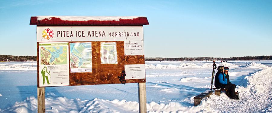 Skyltar på Ice arena