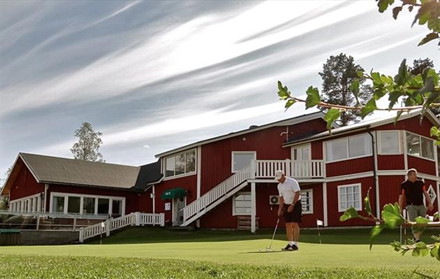 Golfklubbens fasad