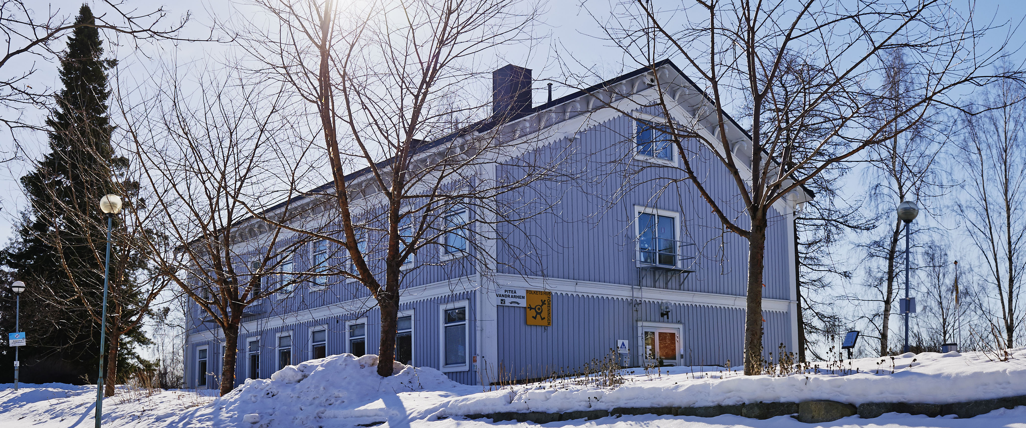 Piteå Vandrarhem huset vintertid