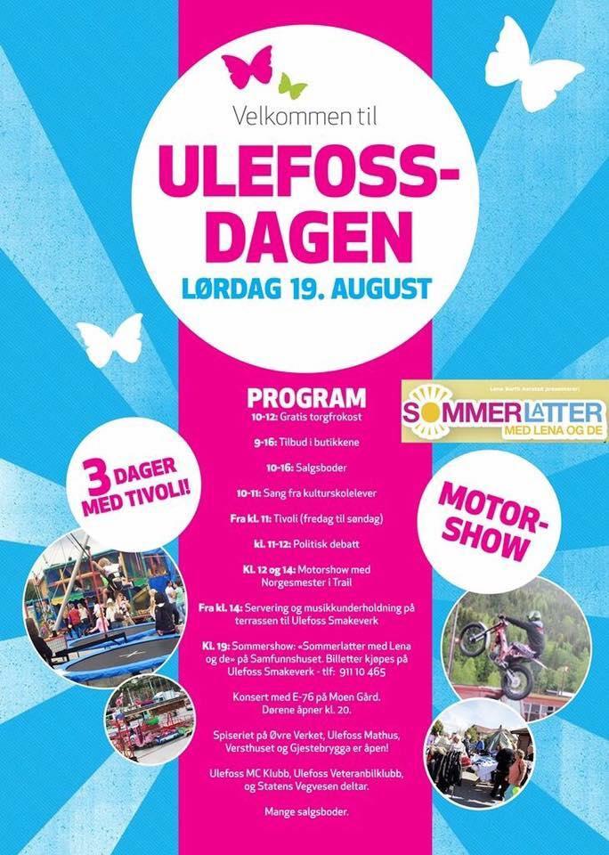 Program Ulefossdagen, © Ulefoss Handelsstand