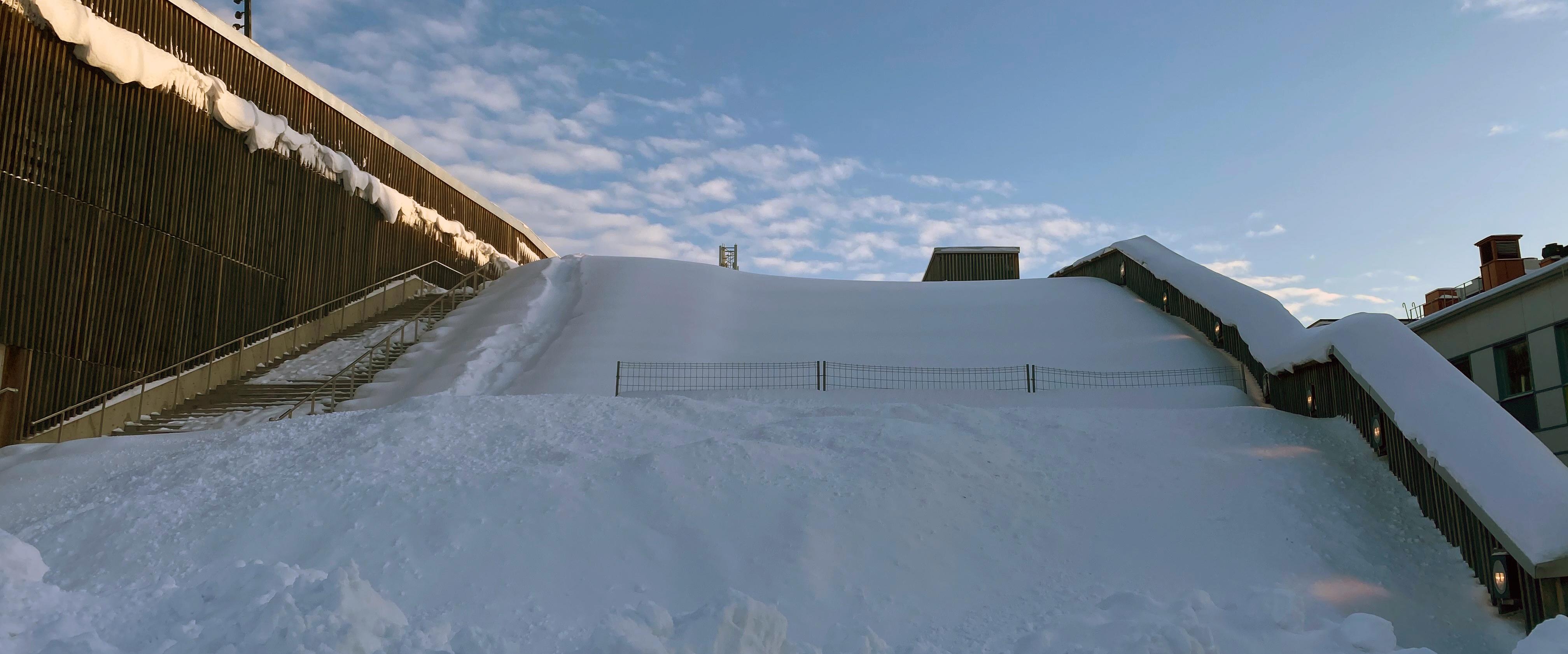 Pulkabacken mitt i Piteå