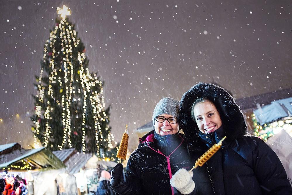 Julestemning på Julemarkedet i Trondheim