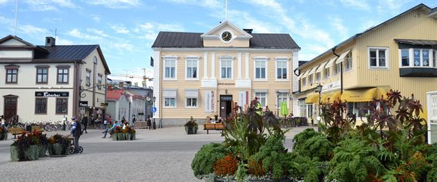 Rådhusets fina hörn på Rådhustorget i Piteå, Piteå museum