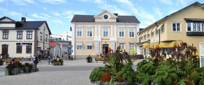 Rådhusets fina hörn på Rådhustorget i Piteå