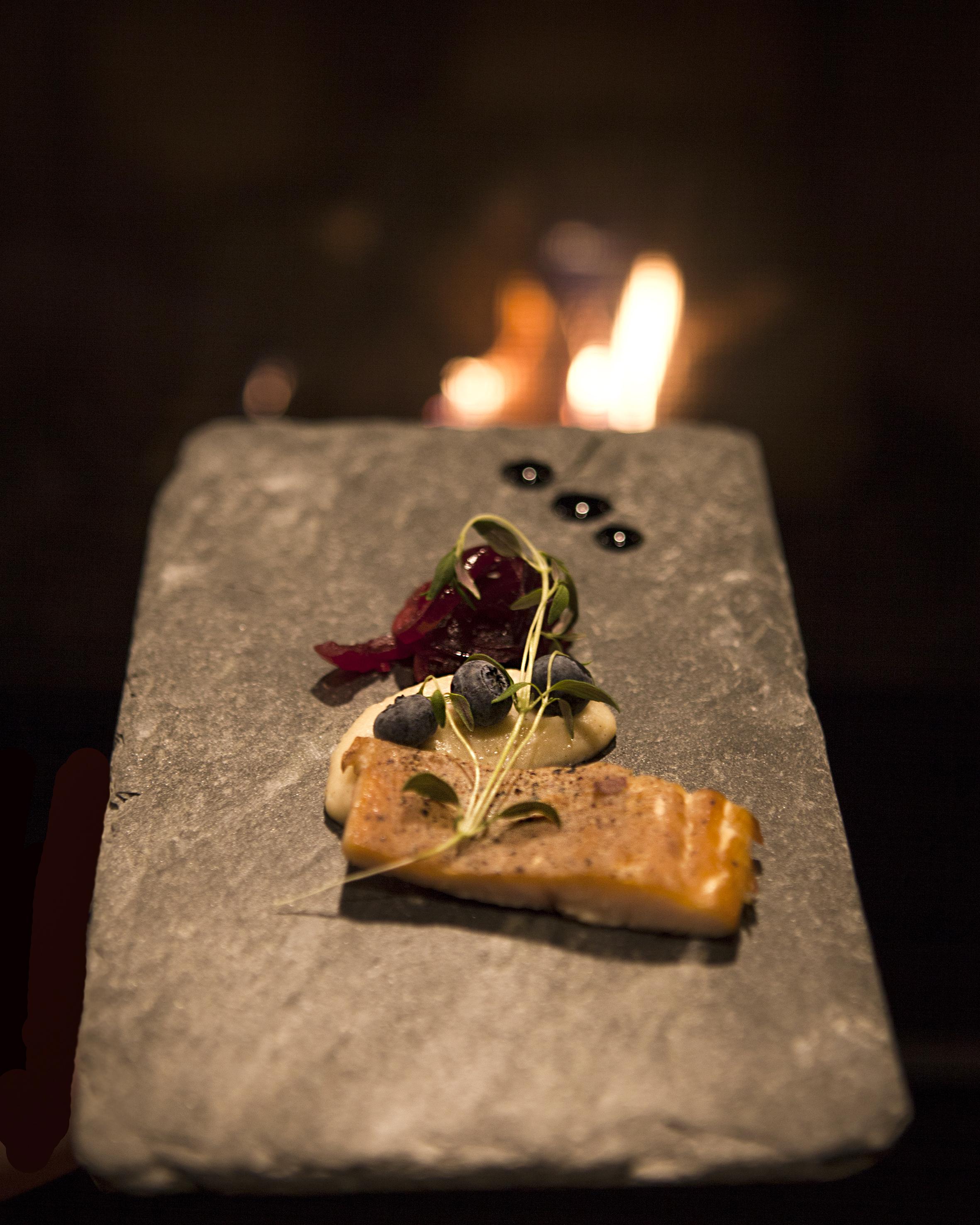 Restaurant forrett Øyeblikket Foto.