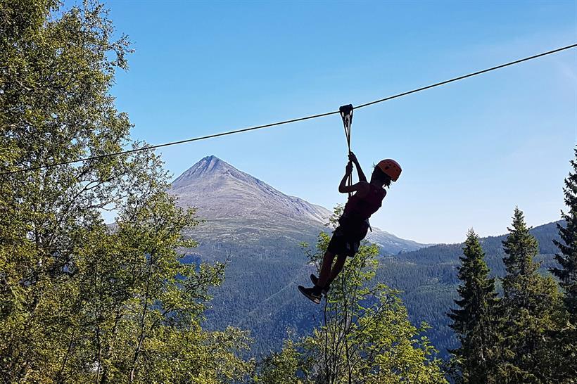 Rjukan climbing park offers great view from the tree tops. , © Rjukan klatrepark