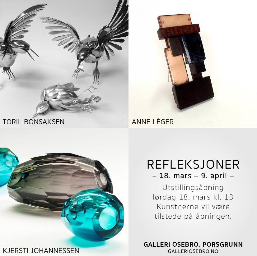 """Utstilling """"refleksjoner"""" på Galleri Osebro"""