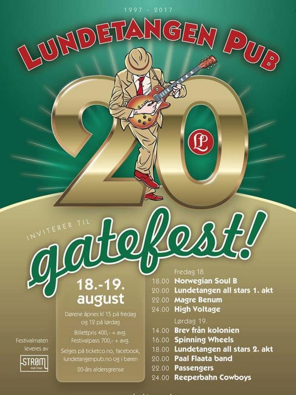 Gatefest, 20 års jubileum