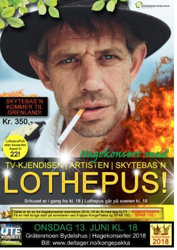 Hagekonsert 2018 - Lothepus