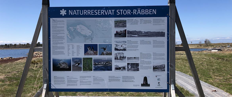 Skylten om Stor-Räbben naturreservat