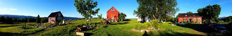 Pnoramaview of the farm Gran Nordre . Copyright: Gran Nordre